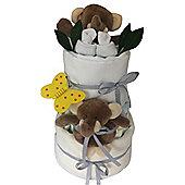 3 Tier Unisex Elli Elephant Nappy Cake
