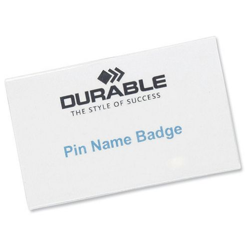 Badge 4x75mm Pinfix Pk100 8008