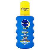 NIVEA SUN Protect & Moisture Moisturising Sun Spray 50+ 200ml