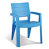 Pair of Allibert Ibiza Light Blue Dining & Garden Chairs