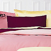 Belledorm Plain Dyed 150 Thread Count Plain Hem Pillowcase (Set of 2) - Burgundy