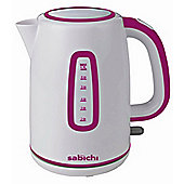 Sabichi 113030 Highlights Raspberry Jug Kettle - 1.7L