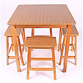 Wiseaction Value Range Dining Table Set with 4 Chairs
