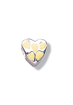 Jo For Girls Primrose Heart Silver Slide On Bead