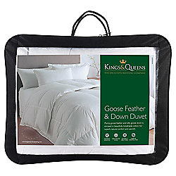 Kings & Queens Goose Feather and Down Kingsize Duvet 10.5 Tog