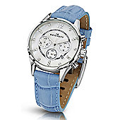 Kennett Savro Ladies Leather 24 hour, Chronograph Watch LWSAVWHSILBL