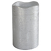 Silver LED Pillar Candle