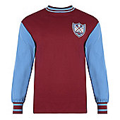 West Ham 1964 FA Cup Final No6 Shirt Claret & Sky Blue M