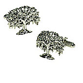 Oak Tree Novelty Themed Cufflinks