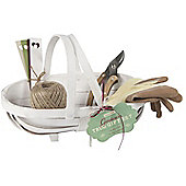 Garden Trug Gift Set with Garden Tools and Gardening Gloves