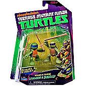 Teenage Mutant Ninja Turtles - Training Don and Leo 2-pack