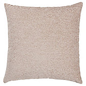 Plain Chenille Cushion, Taupe