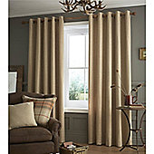 Catherine Lansfield Brushed Heritage Plain Curtains - Natural