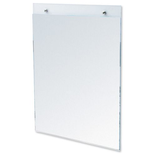 Deflecto Wall Sign Holder Pre-drilled Portrait A5 Clear Ref 47101
