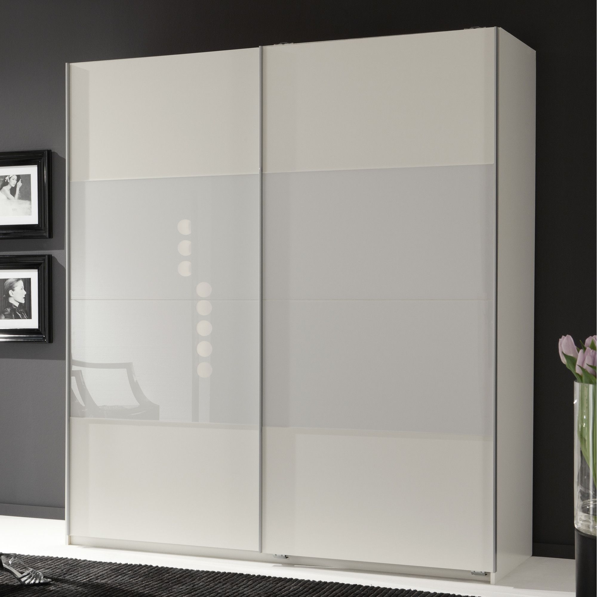 Amos Mann furniture Munich 2 Door Sliding German Wardrobe - White at Tesco Direct