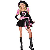 Teen Pink Pirate Costume and Hat