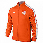 2014-15 Holland Nike Authentic N98 Jacket (Orange) - Orange