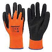 Silverline Hi-Vis Builders Gloves Orange Large