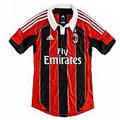 2012-13 AC Milan Adidas Home Football Shirt - Red