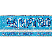 Dazzling Effects 80th Prismatic Birthday Banner - 12ft (each)