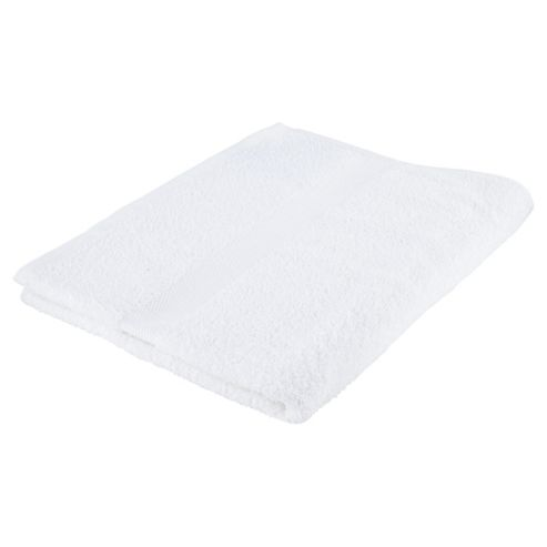Tesco Basic White Bath Towel