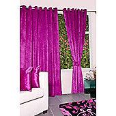 KLiving Eyelet Verbier Lined Curtain 90x90 Hot Pink