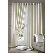 Madison Eyelet Lined Curtains - Cream