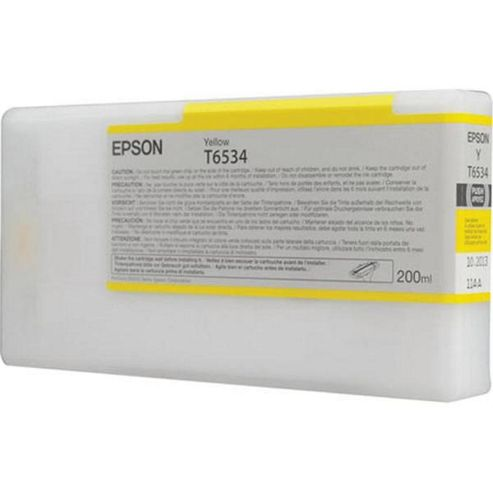 Epson T6534 UltraChrome K3 Ink Cartridge for Stylus Pro 4900 - Yellow
