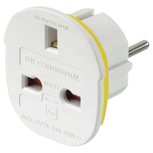 Go Travel UK to Europe Continental Travel Adaptor Plug