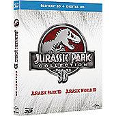 Jurassic Park 3D/ Jurassic World 3D Blu-ray