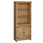 Core Products MX903 Pine 2 Door Bookshelf