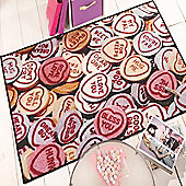 Matrix Themes Hearts Multi 100x160 Nylon Rug