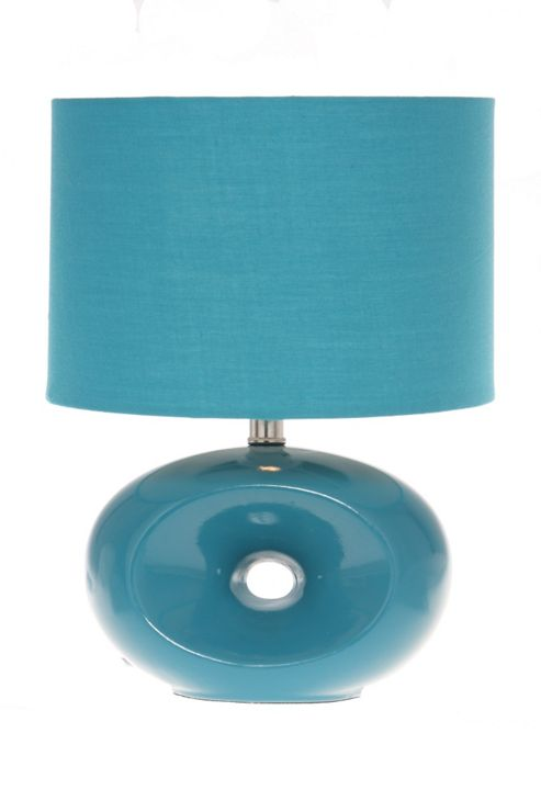 Lighting In:Style Chelsea Oval Table Lamp in Teal