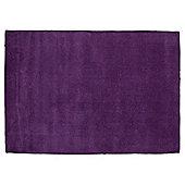 Plain Dye Wool Rug 120x170 Plum