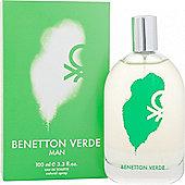 Benetton Verde Man Eau de Toilette (EDT) 100ml Spray For Men