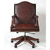 Curzon Gallery Collection Gainsborough High-Back Chair with Foam Interior - Dark Brown