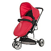 Obaby Chase 3 Wheeler Pramette Travel System, Black & Red