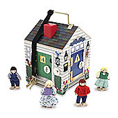 Melissa And Doug Wooden Doorbell House Early Learning Toy