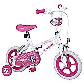"Terrain 12"" Kids' Bike with Stabilisers, Pink"