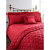 Linea Morris Jacquard Single Duvet Cover In Purple