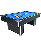 7ft Black Speedster Slate Bed Pool Table