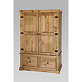 Home Essence Windmill 2 Drawer Wide Wardrobe