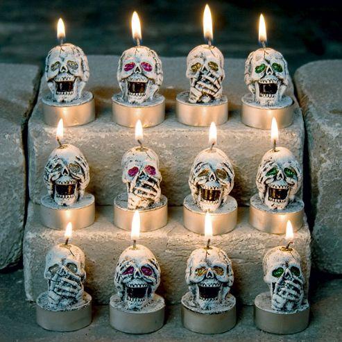 Skull Tea Light Candle