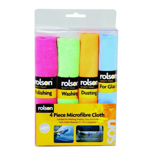 Rolson 4-Piece Micro-Fibre Cloth Set