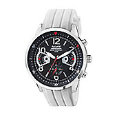 Accurist Gents Chronograph White Rubber Strap Strap Watch MS920BW