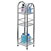 Premier Housewares 3 Tier Storage Stand in Chrome