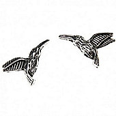 Small Humming Bird Charm - Silver - 10 Pack