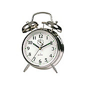 Acctim 12627 Saxon Springwound Alarm Clock Chrome