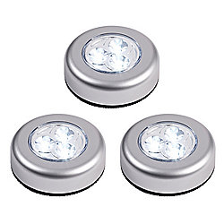 Set of 3 Battery Operated LED Push Lights
