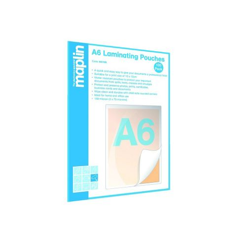 A6 Laminating Pouches 100-Pack